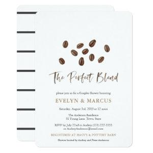 The Perfect Blend Coffee Couples Wedding Shower Invitation starting at 3.23
