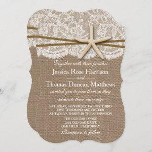 The Rustic Starfish Beach Wedding Collection Invitation starting at 2.70