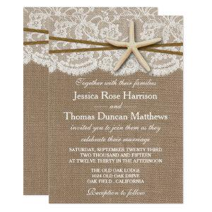 The Rustic Starfish Beach Wedding Collection Invitation starting at 2.51
