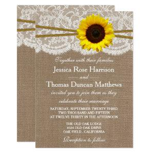 The Rustic Sunflower Wedding Collection Invitation starting at 2.51