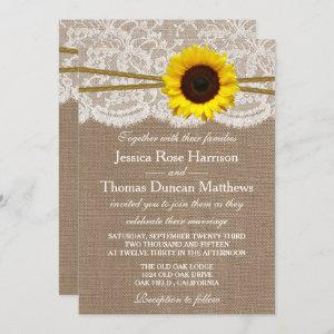 The Rustic Sunflower Wedding Collection Invitation starting at 2.45