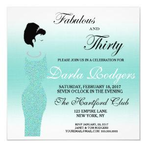 Tiara Party Fabulous And 30 30th Birthday Party Invitation starting at 2.95