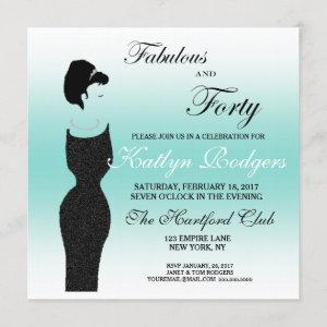 Tiara Party Fabulous And 40 40th Birthday Party Invitation starting at 2.95