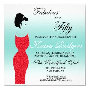 Tiara Party Fabulous And 50 50th Birthday Party Invitation starting at 2.95