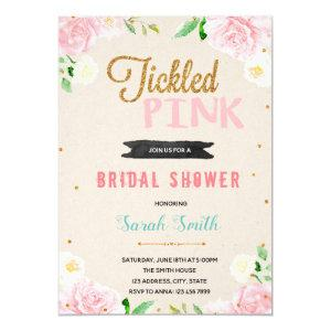 Tickle pink shower party invitation starting at 2.50