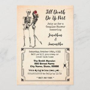 Till death do us part halloween couples shower invitation starting at 2.55