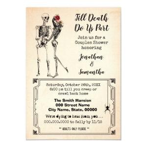 Till death do us part halloween couples shower invitation starting at 2.25
