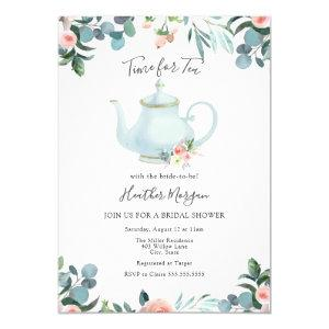 Time for Tea Bridal Shower Invitation starting at 2.55