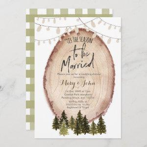 Tis the season to be married invitation starting at 2.66
