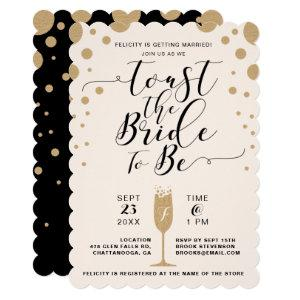 Toast The Bride | Champagne Bubbles Bridal Shower Invitation starting at 2.50