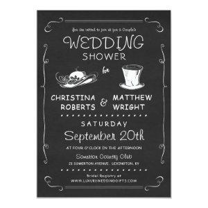 Top Hat Couple's Wedding Shower Invitation starting at 2.56