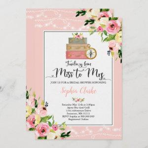 Travel Bridal Shower Invitation Miss To Mrs Floral starting at 2.56