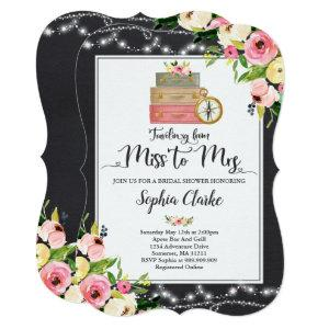 Travel Bridal Shower Invitation Miss To Mrs Floral starting at 2.81