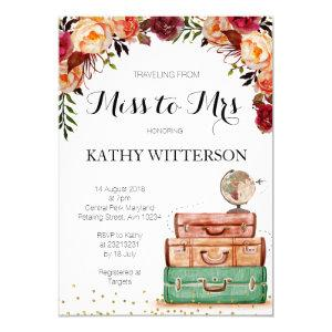 Travel Themed Bridal Shower Invitation starting at 2.25
