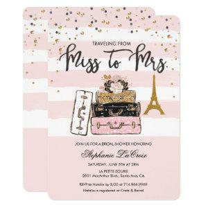 Traveling from Miss to Mrs Bridal Invitation starting at 3.05