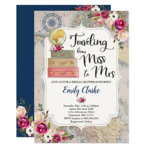 Traveling From Miss To Mrs Bridal Shower Invite starting at 2.56