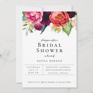 Trendy Colorful Floral Bridal Shower Invitation starting at 2.50
