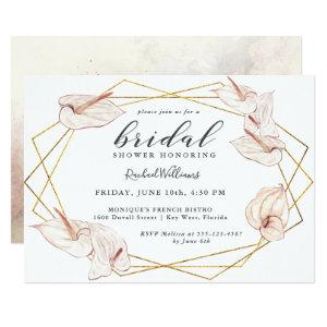 Tropical Anthuriums Floral Bridal Shower Invitation starting at 2.51