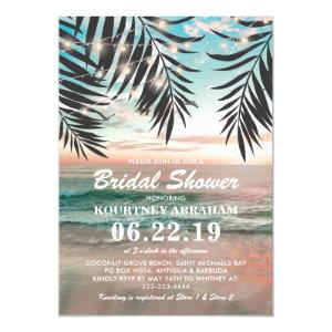 Tropical Beach Bridal Shower | String of Lights Invitation starting at 2.40