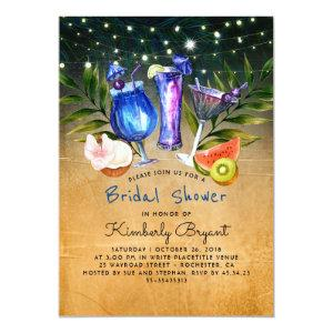 Tropical Beach Cocktail Party Bridal Shower Invitation starting at 2.35