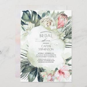 Tropical Beach Greenery and Flowers Bridal Shower starting at 2.51