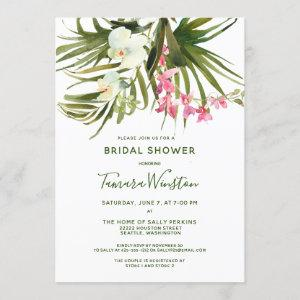 Tropical Beach Greenery Pink Floral Bridal Shower Invitation starting at 2.40