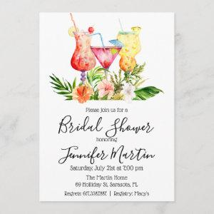 Tropical Bridal Shower Cocktail Drinks Invitation starting at 2.61