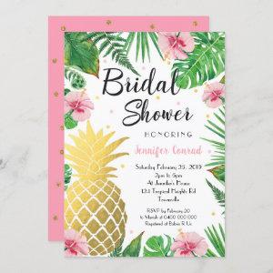 Tropical Bridal Shower , Gold Pineapple starting at 2.50