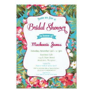 Tropical Bridal Shower Invitation Luau Floral starting at 2.66