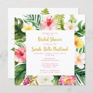 Tropical Bridal Shower Invitations, Personalized Invitation starting at 2.30