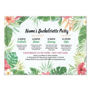 Tropical Bridal Shower Itinerary Aloha Invite starting at 2.51