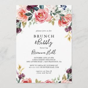 Tropical Colorful Brunch and Bubbly Bridal Shower Invitation starting at 2.51