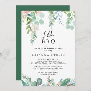 Tropical Floral I Do BBQ Engagement Party Invitation starting at 2.51