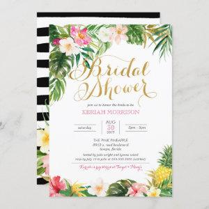 Tropical Floral or Luau Style Bridal Shower starting at 2.70