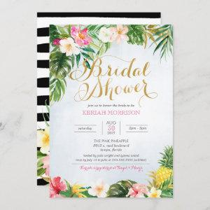 Tropical Floral or Luau Style Bridal Shower Invitation starting at 2.70
