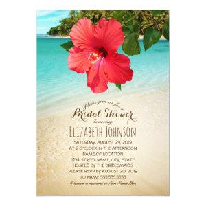 Tropical Hibiscus Beach Themed Bridal Shower Invitation starting at 2.55