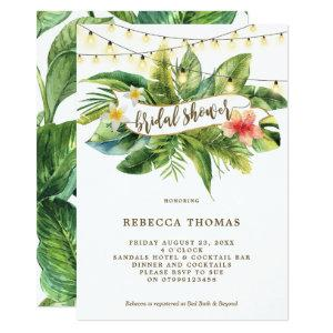 Tropical jungle lights bridal shower invitation starting at 2.51