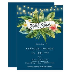 Tropical jungle navy bridal shower invitation starting at 2.56