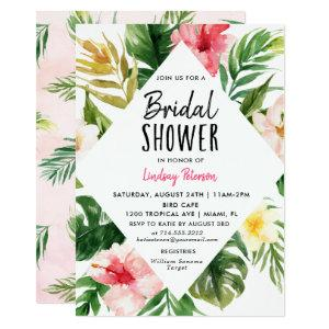 Tropical Leaves Bridal Shower Invitation Card starting at 2.61