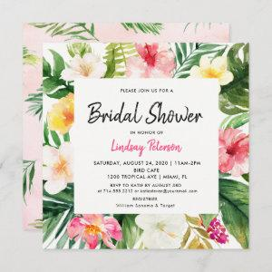 Tropical Leaves Square Bridal Shower Invitation starting at 2.51