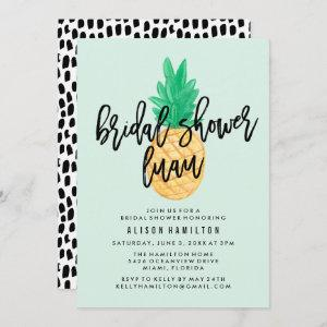 Tropical Luau Bridal Shower Invitation in Mint starting at 2.51
