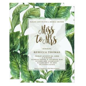 Tropical Miss to Mrs bridal shower invitation starting at 2.51