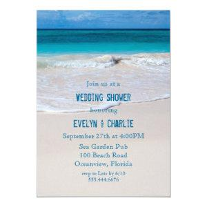 Tropical Ocean Water Beach Wedding Shower Invite starting at 2.55