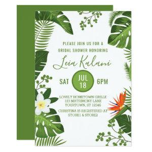 Tropical Palm Leaves Bridal Shower Invitation starting at 2.40
