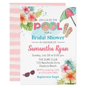 Tropical Poolside Summer Bridal Shower Invitation starting at 2.55