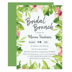 Tropical Theme Watercolor Bridal Shower Brunch Invitation starting at 2.66