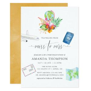 Tropical Traveling From Miss To Mrs Bridal Shower Invitation starting at 2.66