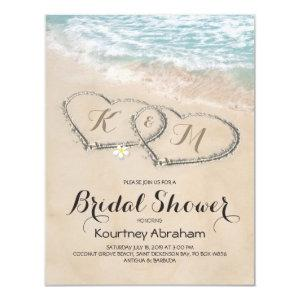 Tropical Vintage Beach Heart Bridal Shower Invitation starting at 2.10