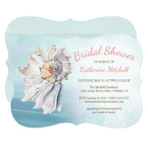 Tropical Watercolor Beach Seashell Bridal Shower Invitation starting at 2.91