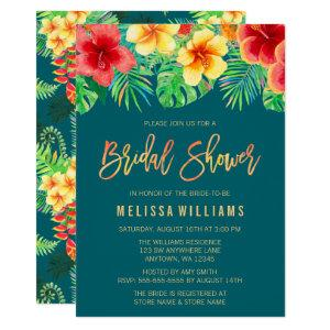 Tropical Watercolor Flowers Bridal Shower Invitation starting at 2.45